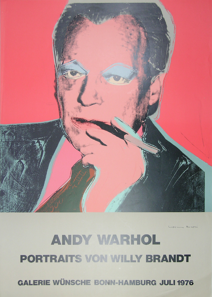 andy warhol willy brandt m in. Black Bedroom Furniture Sets. Home Design Ideas